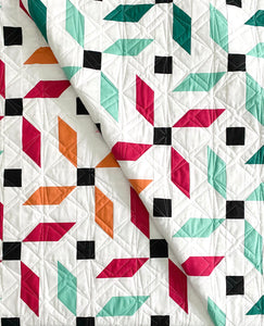 Propeller Quilt Pattern PDF by Mandi Persell of Sewcial Stitch
