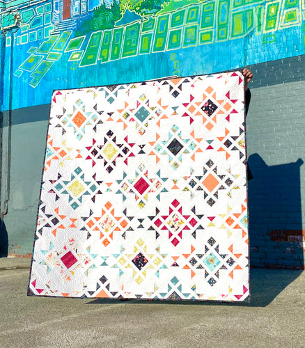 Star Blast Pollinate Quilt Kit by Sewcial Stitch Throw and Bed