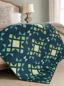 Star Blast PDF Quilt Pattern by Mandi Persell of Sewcial Stitch 4 size options