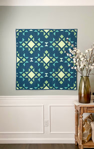 Star Blast Solid Quilt Kit by Sewcial Stitch 4 size options
