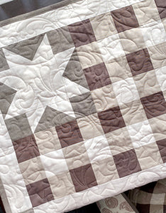 Plaid Flag Neutral Quilt Kit by Sewcial Stitch 6 size options