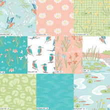 Load image into Gallery viewer, Lily Pad Salmon Lotus Fabric by Debbie Shore for Craft Cotton Co