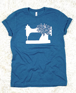Sewing Machine Tee Shirt Heather Deep Teal