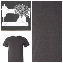 Load image into Gallery viewer, Sewing Machine Tee Shirt Heather Dark Gray