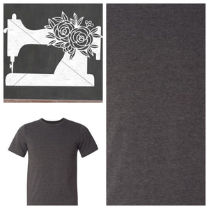 Sewing Machine Tee Shirt Heather Dark Gray