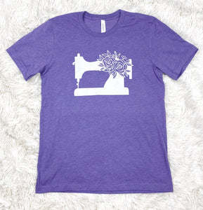 Sewing Machine Tee Shirt Heather Purple