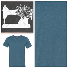 Load image into Gallery viewer, Sewing Machine Tee Shirt Heather Deep Teal