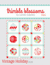 Load image into Gallery viewer, Vintage Holiday Mini Quilt Pattern by Thimble Blossoms