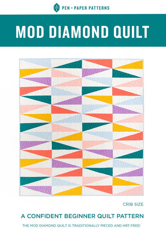 Mod Diamond Quilt Pattern by Pen and Paper Patterns