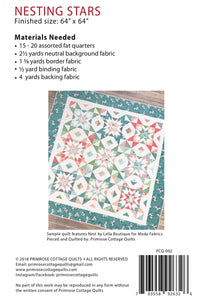 Nesting Stars Quilt Pattern by Lindsey Weight for Primrose Cottage Quilts