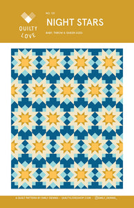 Night Stars Quilt Pattern by Emily Dennis of Quilty Love