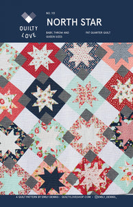 North Star Quilt Pattern by Emily Dennis of Quilty Love