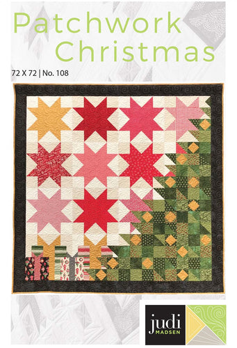 Patchwork Christmas Quilt Pattern by Judi Madsen