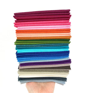 Peppered Cotton Rainbow Fat Quarter Bundle by Pepper Cory Custom Curated by Sewcial Stitch