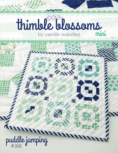 Puddle Jumping Mini Quilt Pattern by Thimble Blossoms