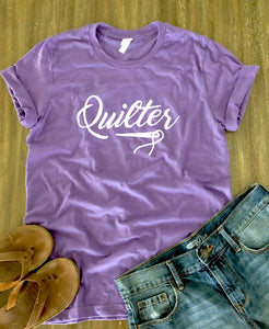 Quilter Tee Shirt Heather Purple