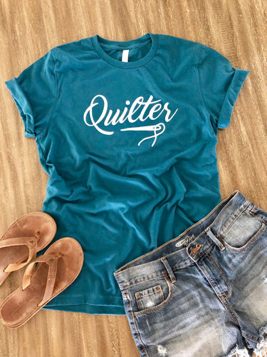 Quilter Tee Shirt Deep Teal
