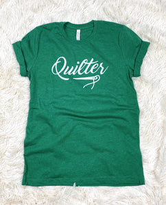 Quilter Tee Shirt Heather Green