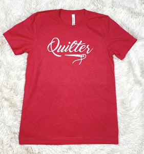 Quilter Tee Shirt Heather Red