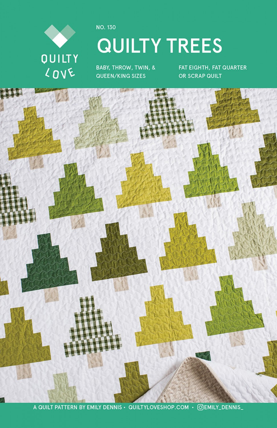 Quilty Trees Quilt Pattern by Emily Dennis of Quilty Love