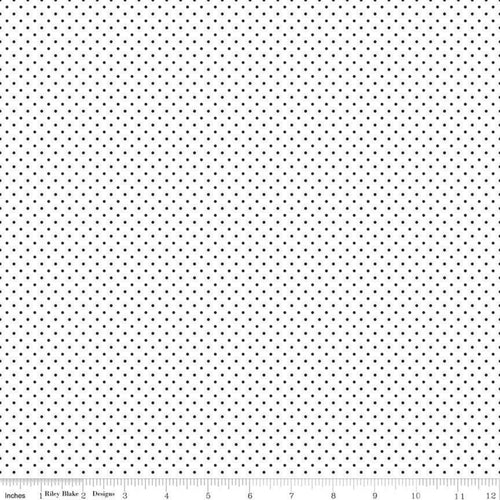 Swiss Dot Black and White Fabric by Riley Blake Designs