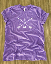 Load image into Gallery viewer, Sewing Tee Shirt Heather Purple