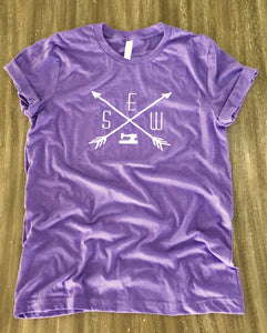 Sewing Tee Shirt Heather Purple