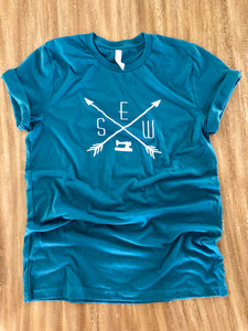 Sewing Tee Shirt Deep Teal