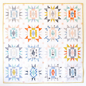 Sienna Burst Quilt Pattern by Meghan Buchanan of Then Came June
