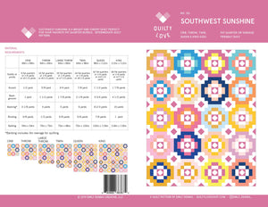 Southwest Sunshine Quilt Pattern by Emily Dennis of Quilty Love