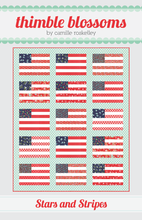 Load image into Gallery viewer, Stars and Stripes Quilt Pattern by Thimble Blossoms