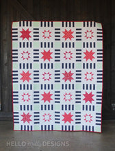 Load image into Gallery viewer, Stars In Stripes Quilt Pattern by Hello Melly Designs