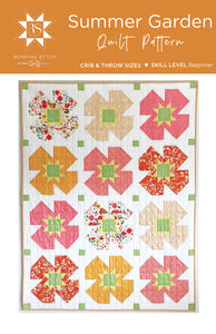 Summer Garden Quilt Pattern by Running Stitch Quilts