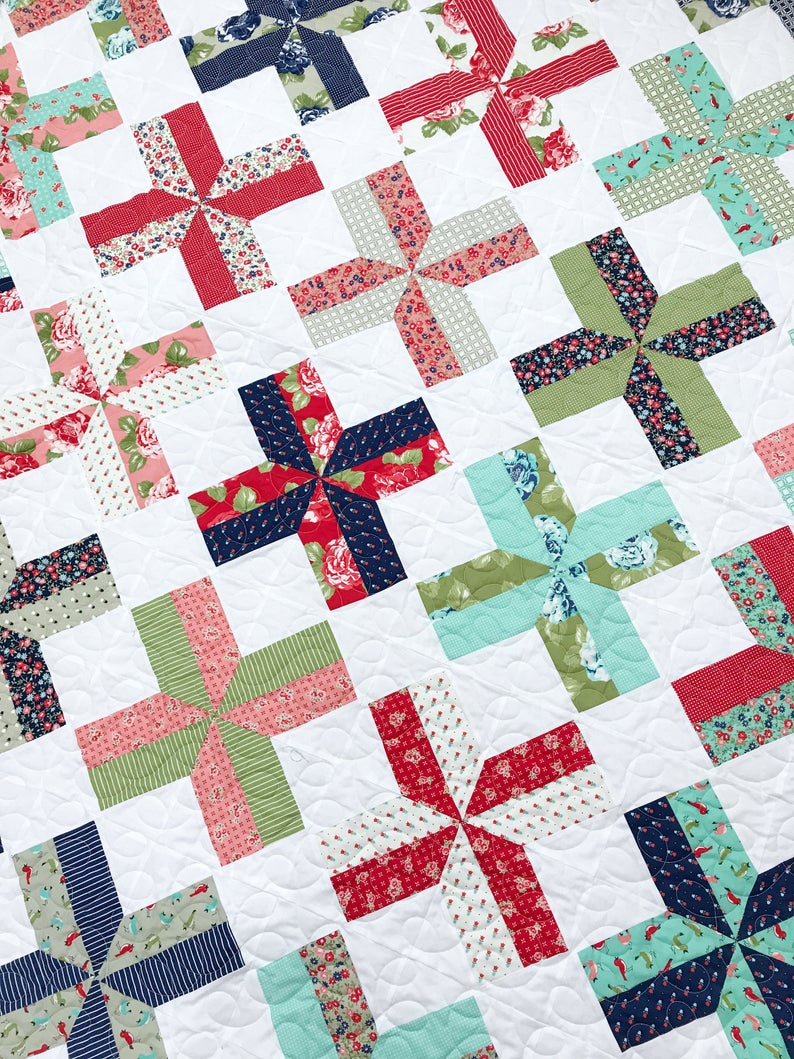 Tilt A Whirl Quilt Pattern by Lindsey Weight for Primrose Cottage Quilts