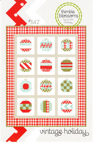 Vintage Holiday Quilt Pattern by Thimble Blossoms