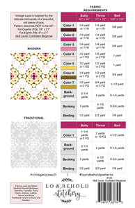 Vintage Lace Quilt Pattern by Lo and Behold Stitchery