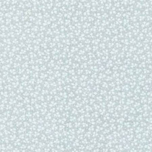 "White on White Small Leaf Floral Tone on Tone 108"" Wide Fabric by Fabriquilt"