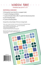 Load image into Gallery viewer, Window Pane Quilt Pattern by Lindsey Weight for Primrose Cottage Quilts