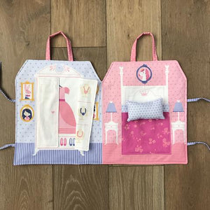 Once Upon A Time Princess Dolls and Castle Playbook Panel set by Stacy Iest Hsu for Moda Fabrics