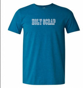 CLEARANCE!  Holy Scrap Tee Shirt Teal