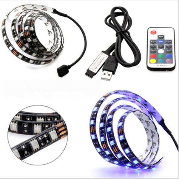USB LED Strip Light With Key RF Controller