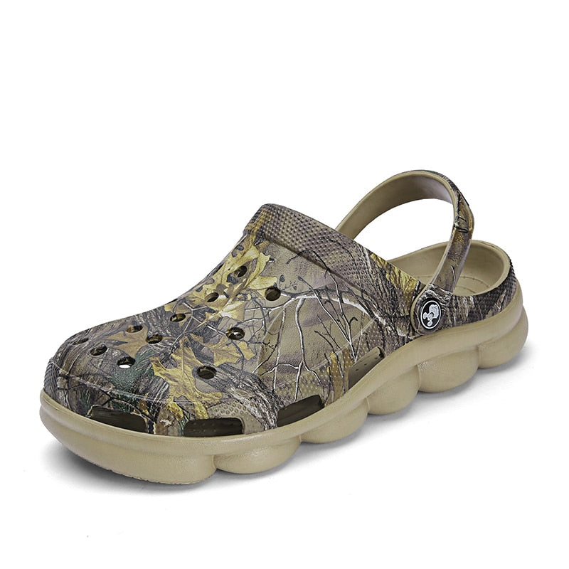 Men candy Color hollow camouflage green Beach Sandals