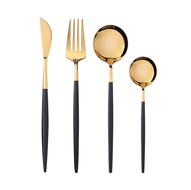 Mirror Gold Cutlery Set 18/10 Stainless Steel