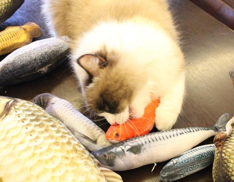 Stuffed Catnip Kicker Fish Toy