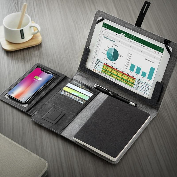 TravelPad - Multifunctional Padfolio With Wireless Power Bank