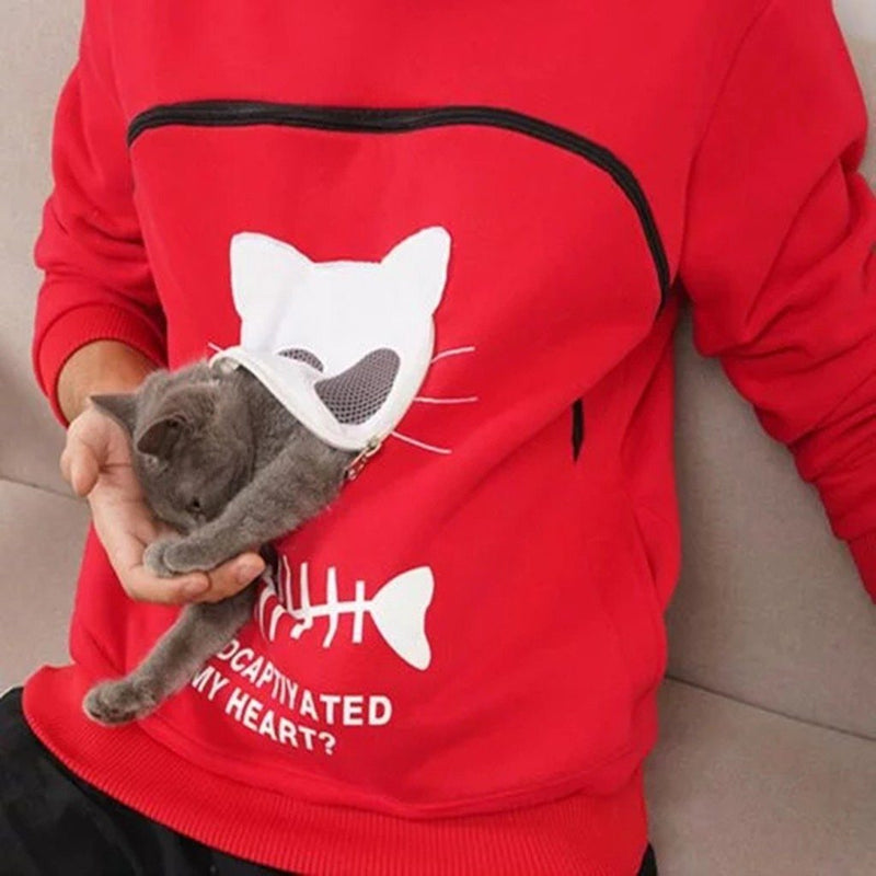 Pet Lover Hoodie With Large Kangaroo Pouch