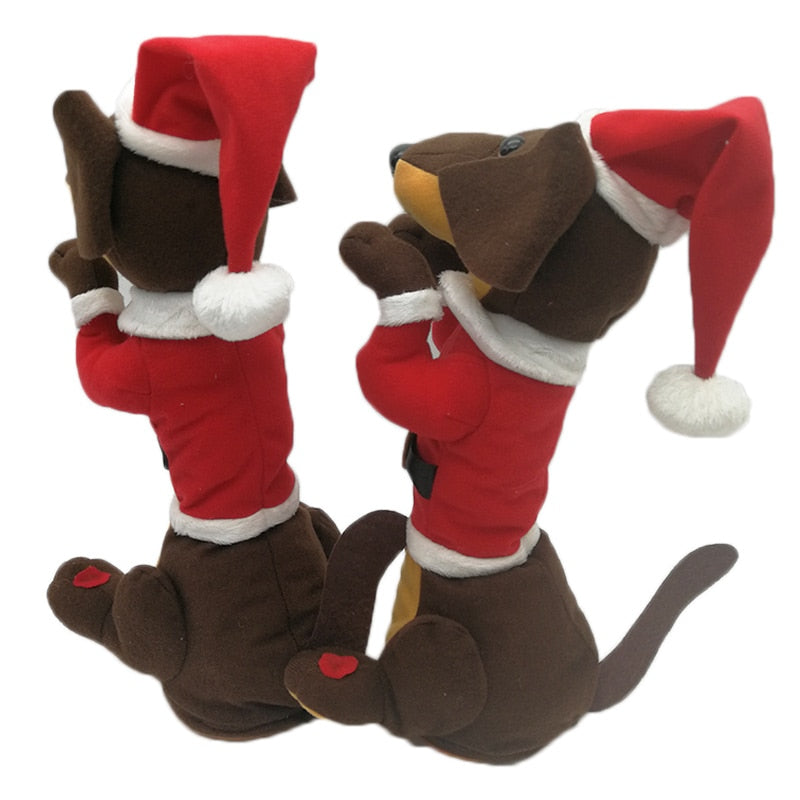 Interactive Electric Pets Plush Toy Dog with Bell Christmas Gift For Kids