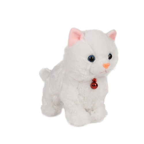 Sound control robotic dog, cat plush toys