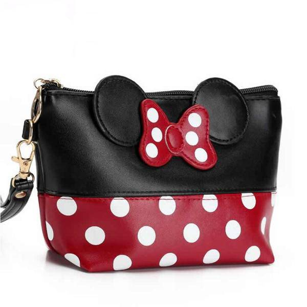 Women Zipper Hand Holding Make Up Handbag