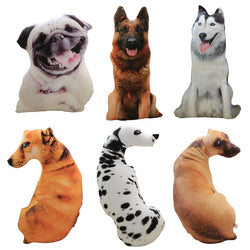 Cute Simulation Dog Plush Toy 3D Printing Stuffed Animal